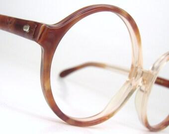 Vintage 50s Round Big Lens Eyeglasses Eyewear Frame
