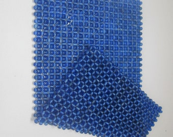 COBALT BLUE BEADED Placemat Mat / Hot Pad