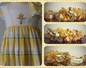 Fall Floral crown made to match Well Dressed Wolf WDW Amber Gifts of Grain dress...flower girl, photo prop A128