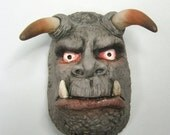 Horned Demon Clay Magnet