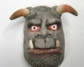 Horned Demon Clay Magnet