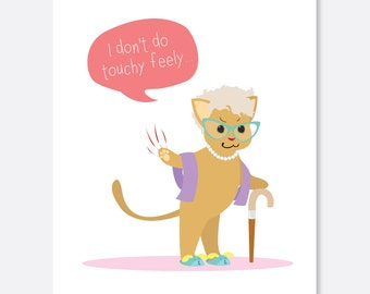Touchy Feely Anniversary Card, Cat Anniversary Card, Silly Card, Fun Anniversary Card