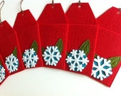 Christmas Tree Gift Card Holders (Ornament Tags Set of 6)