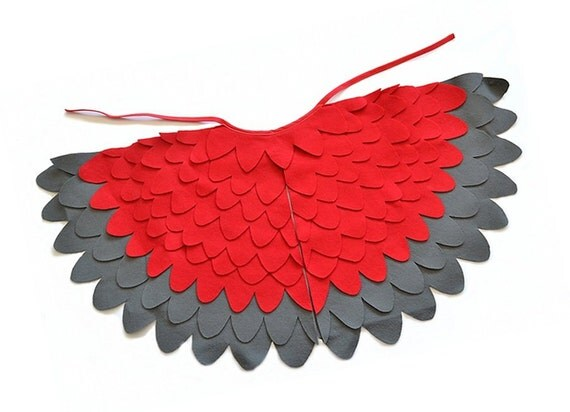 Bird Wing Costume Kids Red Bird Wing Cape Kids Red Wing Cape