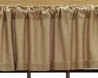 Burlap Valance, Fast Ship, 30% off sale,  Burlap window valance, burlap window treatments, Valance, burlap curtains, burlap curtain