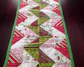 Chevron Quilted Christmas Table Runner