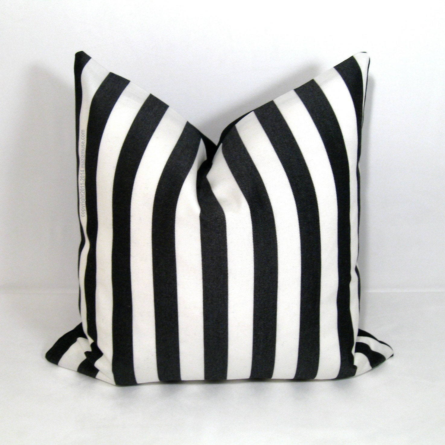black white striped pillow cover decorative pillow by mazizmuse. Black Bedroom Furniture Sets. Home Design Ideas