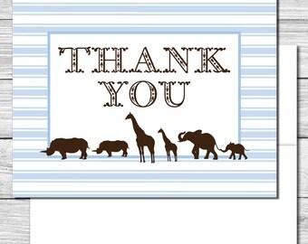 Thank you Notes---Safari Animals--508S