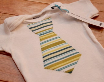 Big Boy Onesie - Appliqued Tie Onesie