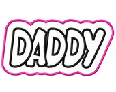 Daddy with a Shadow Embroidery Machine Applique Design 4059