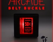 Arcade Belt Buckle... that lights up - 50 Cent Double Lines