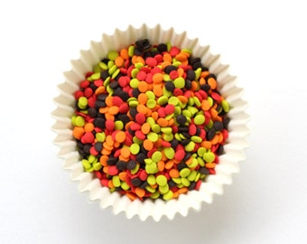 Fall Confetti Sprinkles (3 ounces) Fall Confetti Quins, Thanksgiving Sprinkles for Decorating Cookies and Cupcakes