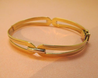 14K Gold Bangle Bracelet Hinged
