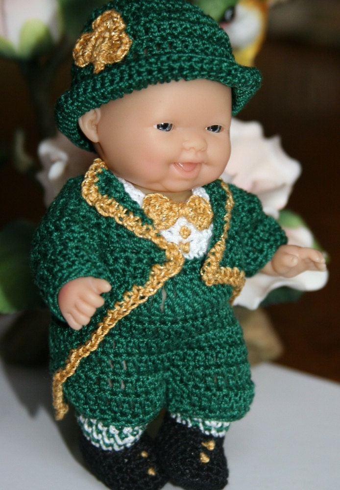 Pdf Pattern Crochet 5 Inch Berenguer Baby Doll Leprechaun Boy
