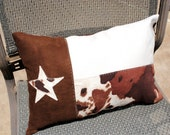 Faux Suede  Texas Flag Pillow