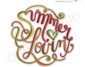 Summer Lovin - Instant Email Delivery Download Machine embroidery design