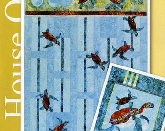 Java House Newly Hatched Baby Sea Turtles Quilt Pattern Applique Pieced