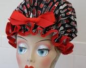 "Shower Cap Women's Waterproof Washable ""Lipstick"""