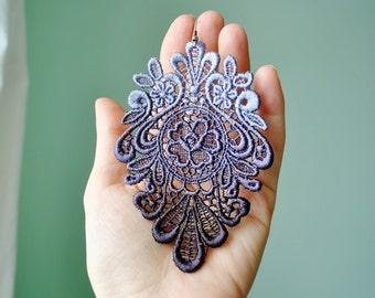 Mystere Lace Earrings/ Long earrings/ Romantic/ Victorian earrings/ Modern boho/ Gift idea/ rusteam teamstyle