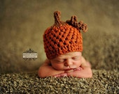 Baby boy hat, baby girl hat, crochet pumpkin hat, pumpkin, photo prop, baby shower gift, first thanksgiving, crochet newborn, coming home