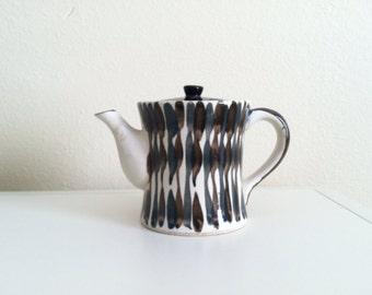 Vintage teapot 1950s ,housewares, espresso,  teal, kitchenware