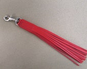"6"" Red Leather Tassel"