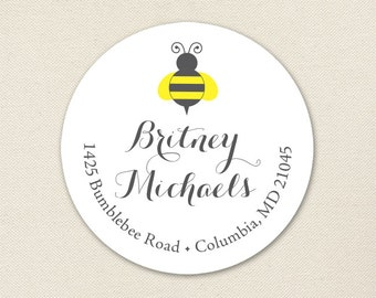 What Will It Bee Address Labels / Bumblebee Address Labels - Sheet of 24