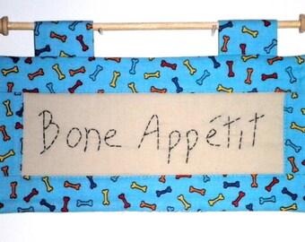 Fabric Wall Hanging - Bone Appetit