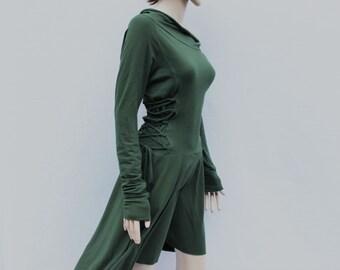 Women's Maxi Dresses / High Low Dress / Low High Dress / dress for Women/  Lace Up Dress / Casual Dresses