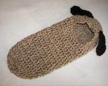 Cocoon, Hooded, Puppy Dog, Newborn, Halloween Costume, Photography Prop, Baby Gift