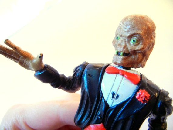 Tuxedo Cryptkeeper Action Figurine, Tales from the Crypt, Motion, Halloween Ugly Creepy Horror, FREE SHIPPING