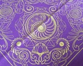 Nautilus Bandana- Purple and Gold