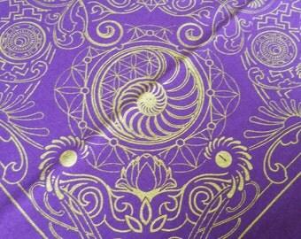 Nautilus Bandana- Purple and Gold