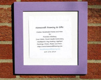 8X8 Picture Frame Lavender Cottage Chic Wooden Photo Frame