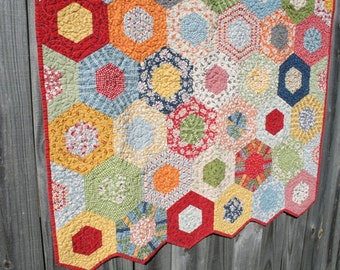 Custom Quilts / Baby Quilts / Quilts for Sale  / Hexagon Quilts /Gender Neutral Quilt / Crib Bedding / Baby Shower / Toddler / Made to Order