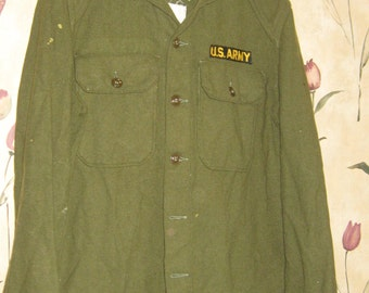 WWII  authentic    US ARMY Uniform Olive wool jacket coat  1940s