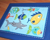 Funny Fish Custom Kids Wall Art