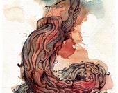 The Bearded Serpent - Fine Art Giclee Print