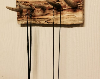 Jewelry or Tie Hanger/Pear Wood and Horn