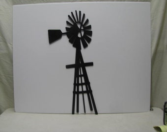 Windmill 001 Metal Yard Art Silhouette