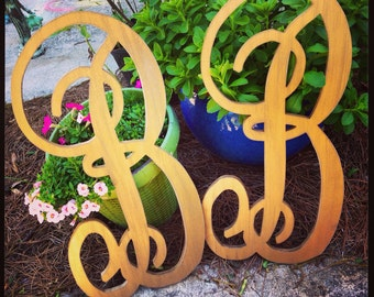 "Two 24"" wood letters can be made in any color or font"