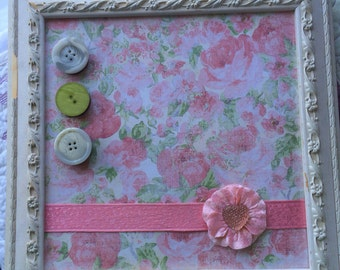 OOAK Upcycled Altered Shabby Chic Magnetic Board