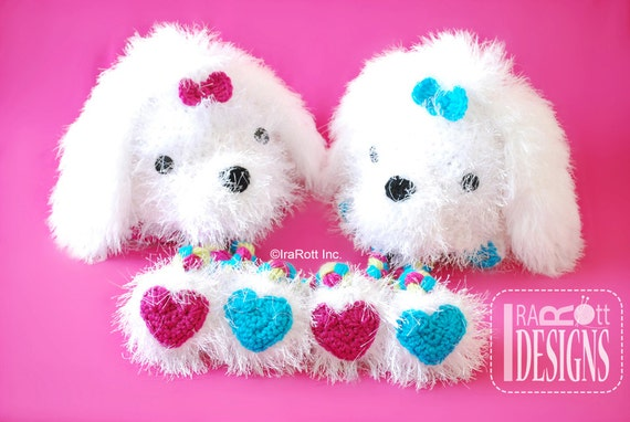 Maltese Dog Knitting Pattern : CROCHET PATTERN Pawla Maltese Puppy Dog Hat Crochet PDF Pattern Instant Downl...