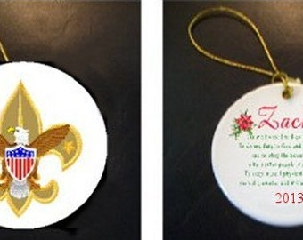 WONDERFUL Boy Scout Christmas Ornament PERSONALIZED