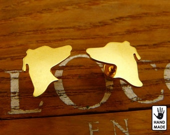 GREYHOUND Handmade Goldplated Sterling Silver .925 Earrings in a gift box