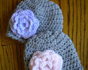 Twin Girl Hats,Baby girl twin hats,Newborn Baby Girl Hats,Newborn photography prop, Newborn flower hats,Newborn twin hats,hats for twins