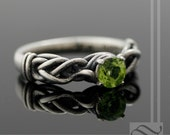 Tangled!  Peridot Engagement Ring