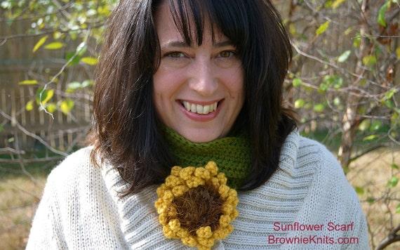 Sunflower Scarf: Crochet Pattern