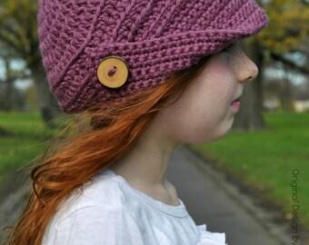 Newsboy Pattern for Children, Teens and Ladies - Crochet Hat Pattern No.310 digital download