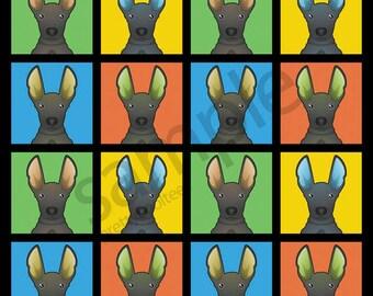 Peruvian Inca Orchid Cartoon Pop-Art T-Shirt Tee - Men's, Women's Ladies, Short, Long Sleeve, Youth Kids - hairless dog